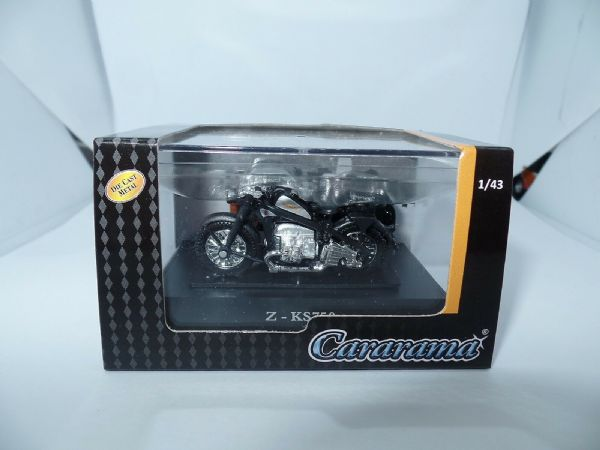 Cararama 4-92140 1/43 O Scale Zundapp Z-KS750 Motor Bike Motorcycle & Side Car